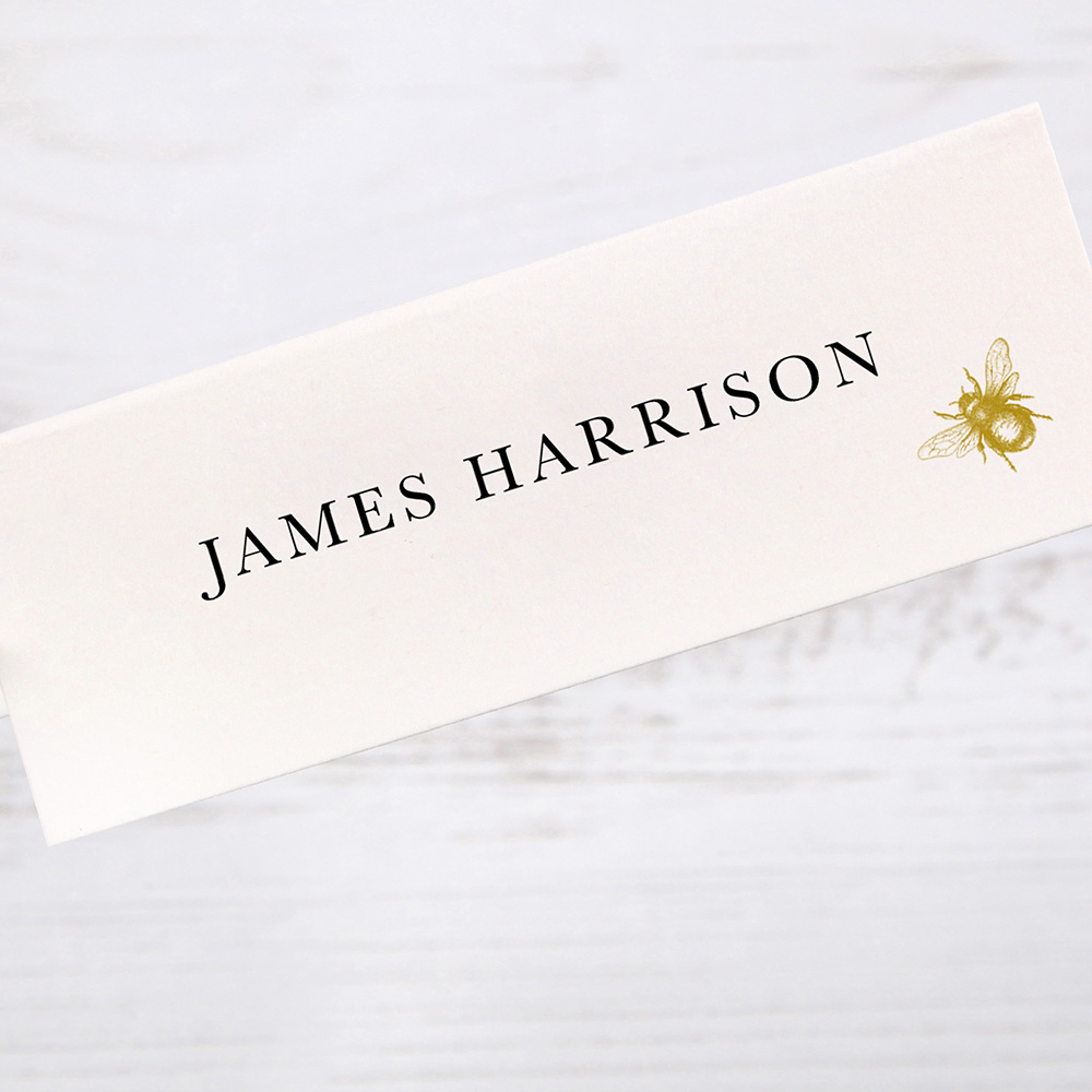 'Bumble Bee' Place Card Sample