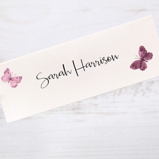 'Butterfly' Place Card Sample