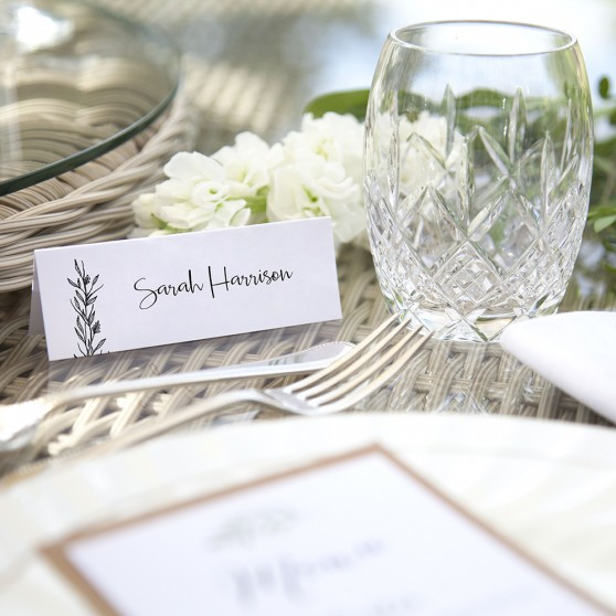 'Charlotte' Place Card Sample