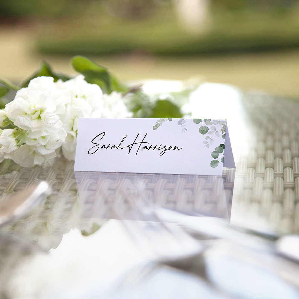 'Classic Eucalyptus' Place Card Sample