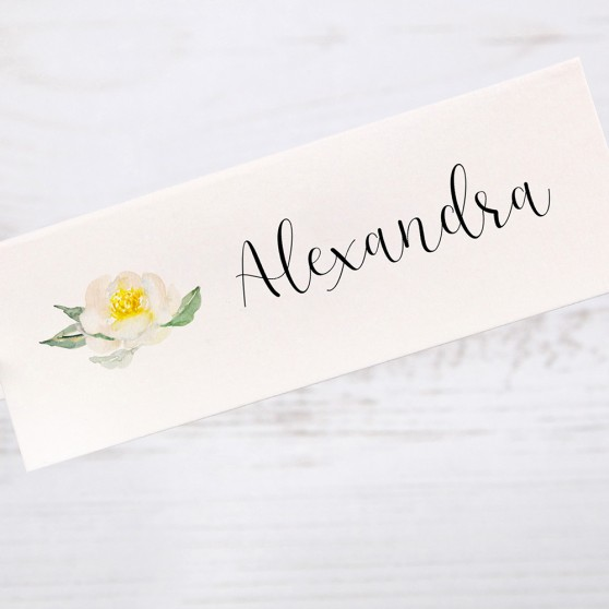 'Dahlia Rose' Place Card Sample