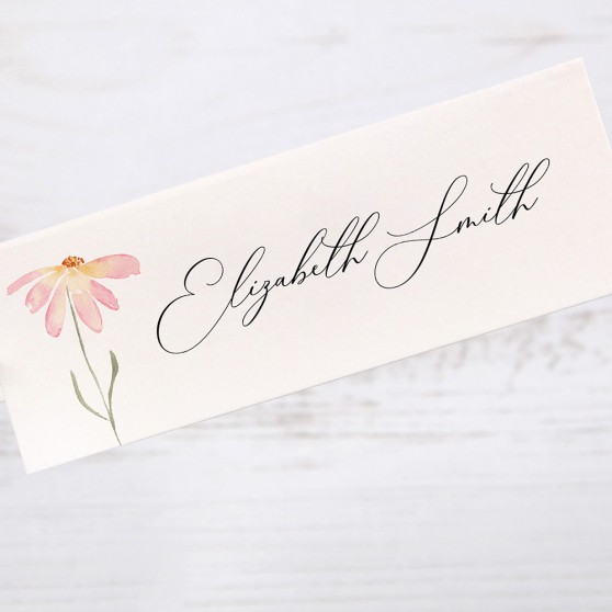 'Daisy Pink' Place Card Sample