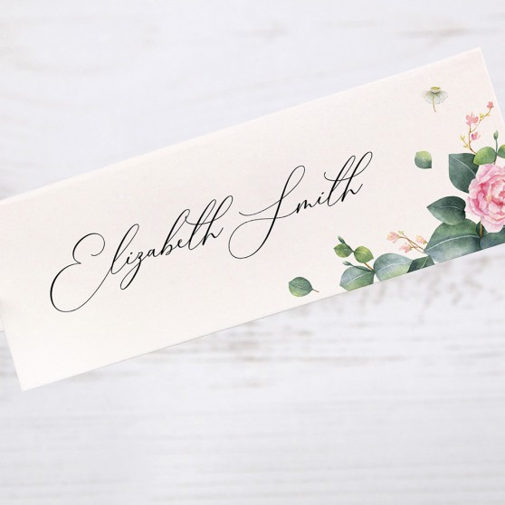 'Eucalyptus Blush' Place Cards