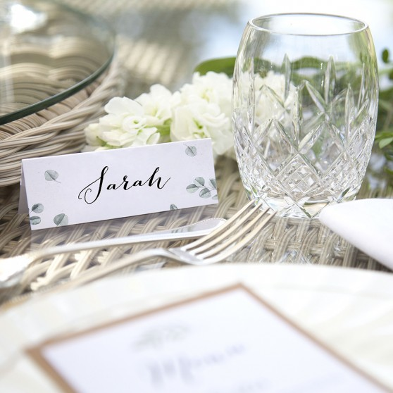 'Eucalyptus' Place Card Sample