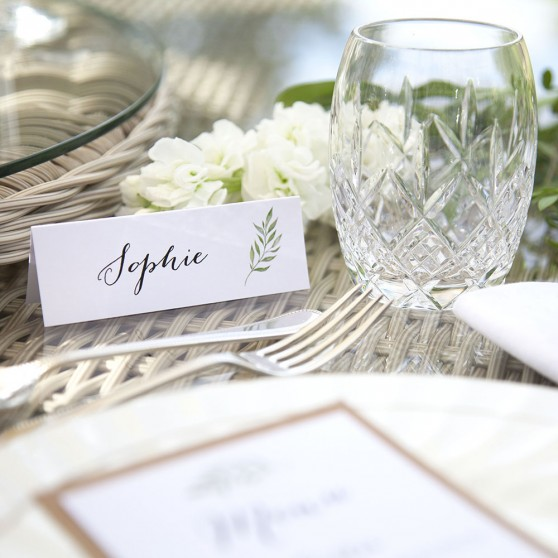 'Green Leaf' Place Card Sample