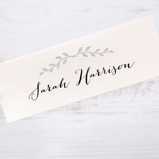 'Green Plant' Place Card Sample