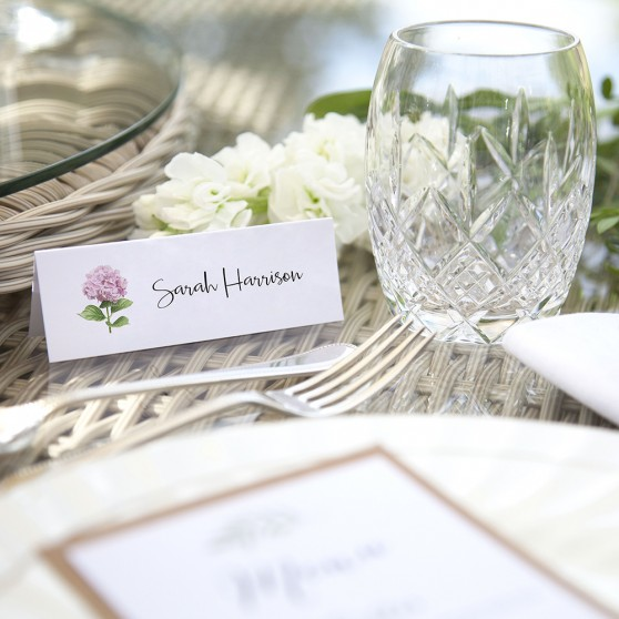 'Hydrangea' Place Card Sample