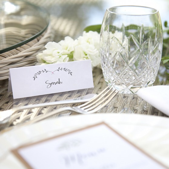 'Pink Ivy Design' Place Card Sample