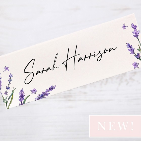 'Lavender' Place Card Sample