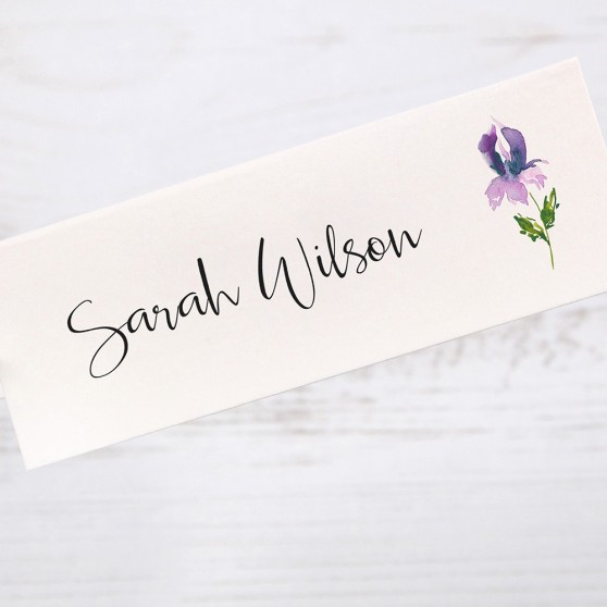 'Midnight Iris' Place Cards