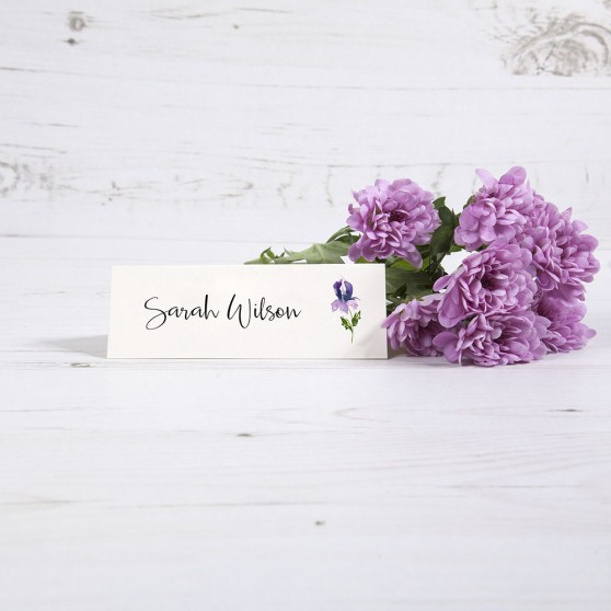 'Midnight Iris' Place Card Sample