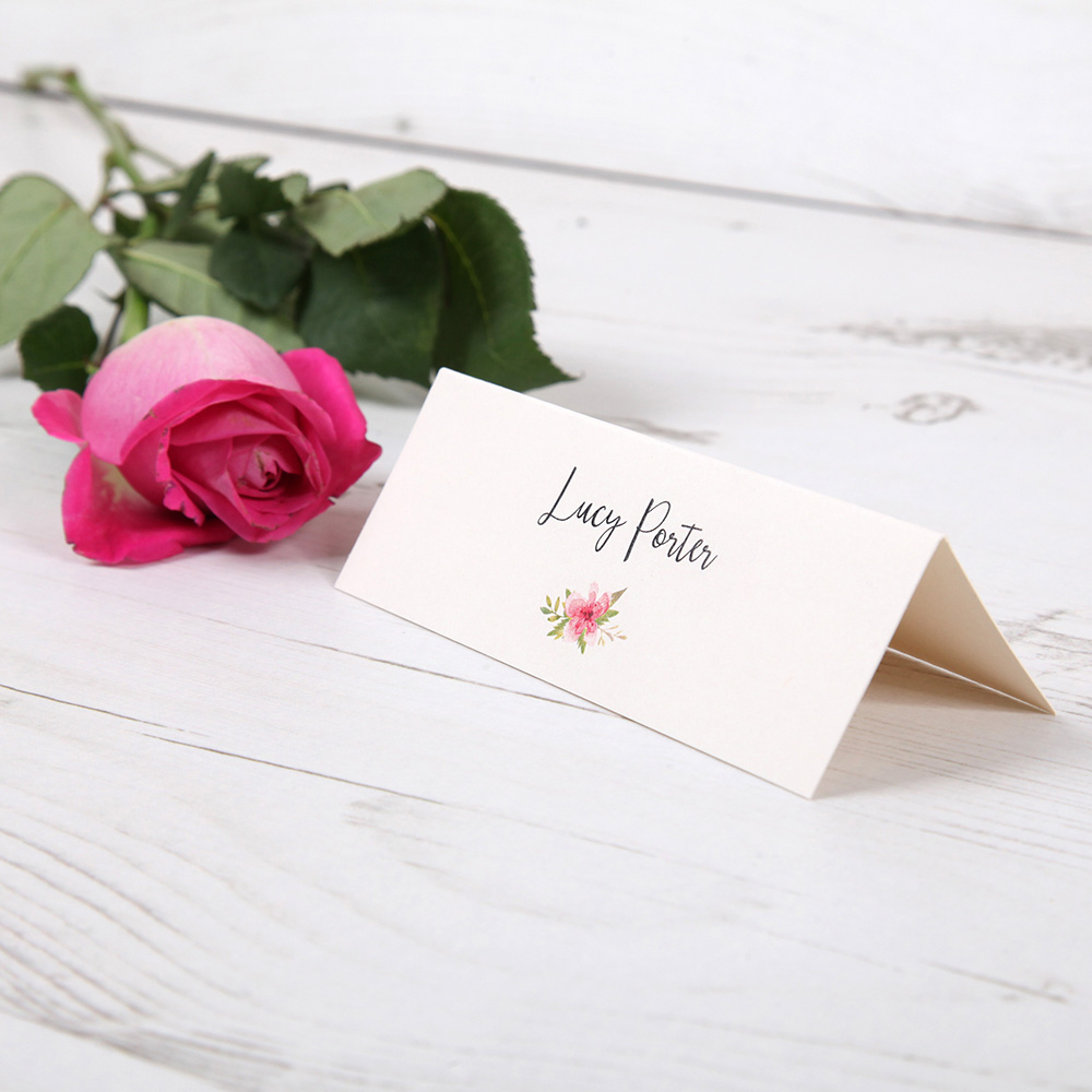'Multi Floral (B)' Place Cards