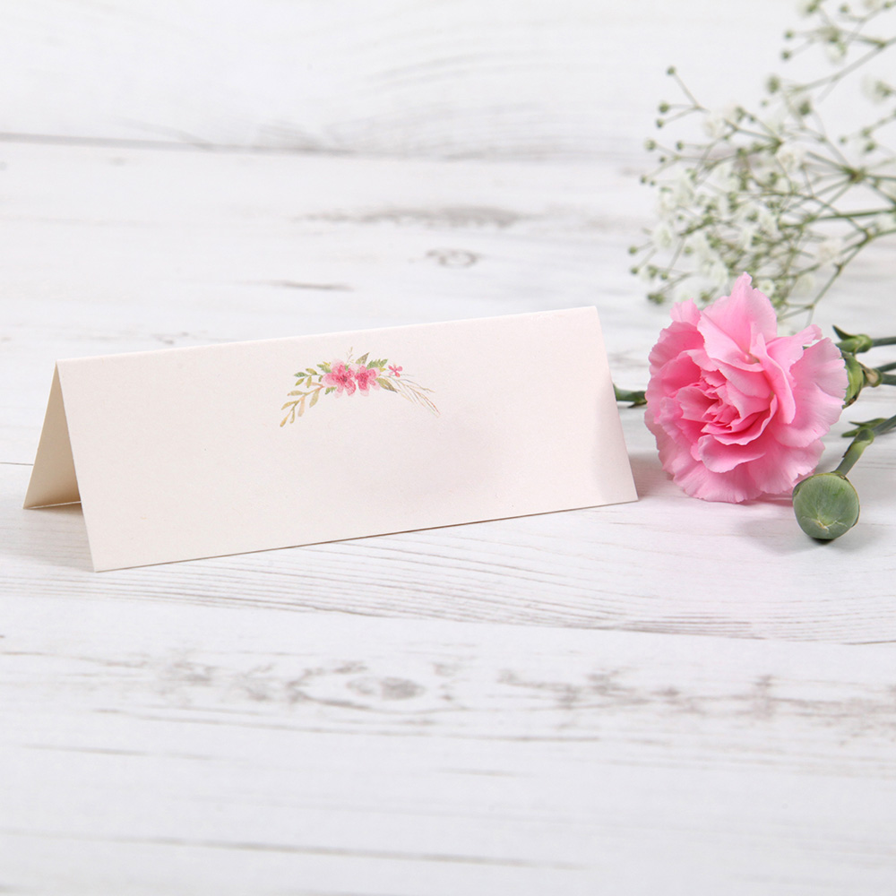 'Multi Floral (T)' Place Card Sample