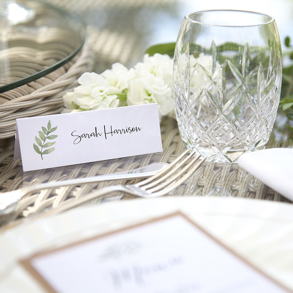 'Oh So Green' Place Cards