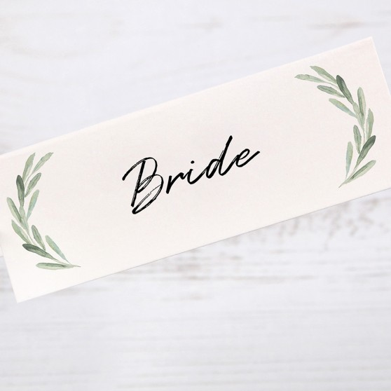 'Olive' Place Card Sample
