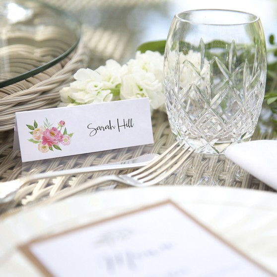 'Peony' Place Card Sample