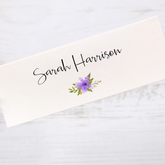 'Purple Multi Floral Watercolour' Place Cards