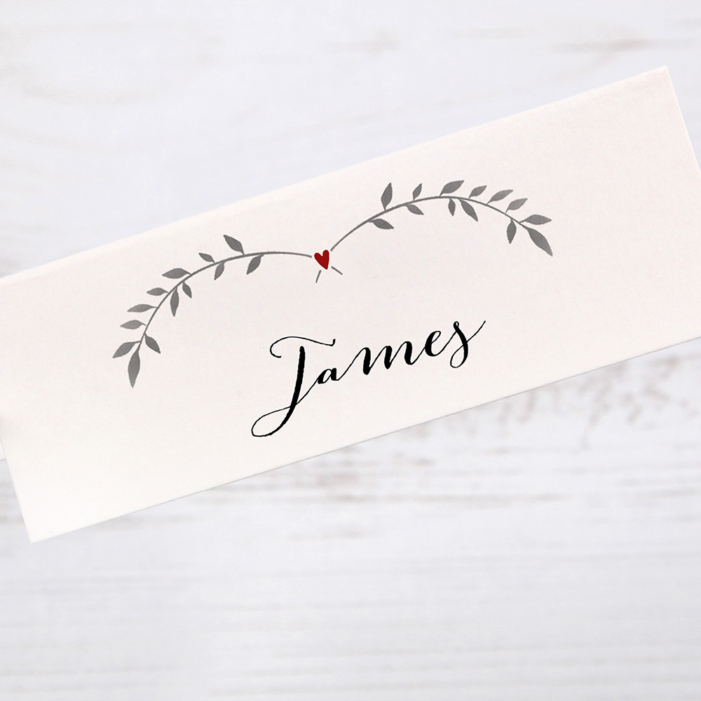 'Red Ivy Design' Place Card Sample