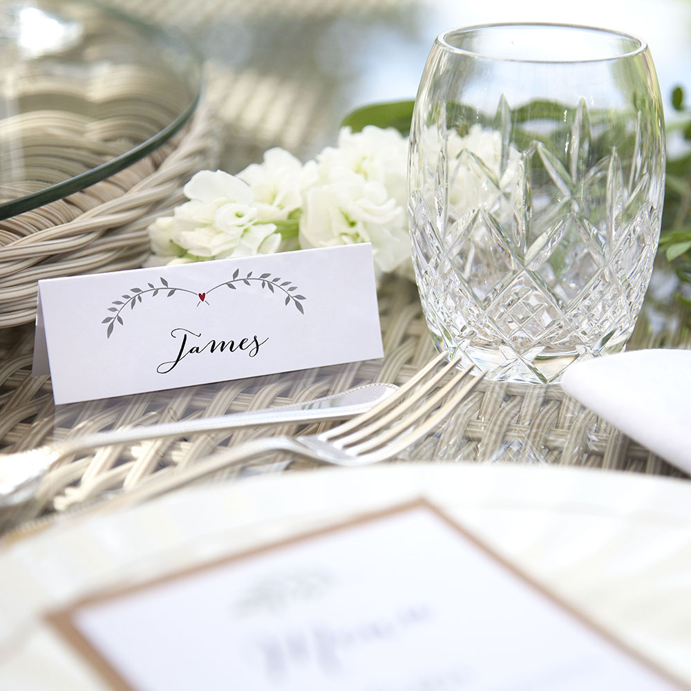 'Red Ivy Design' Place Cards