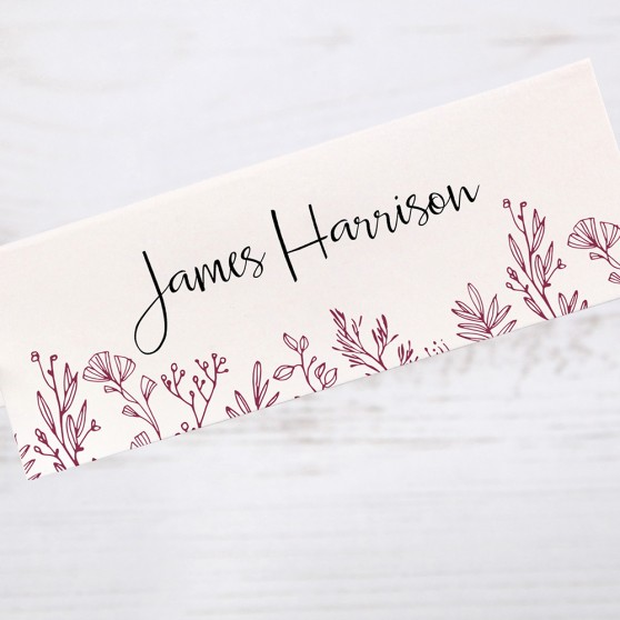 'Ruby Sophia' Place Card Sample