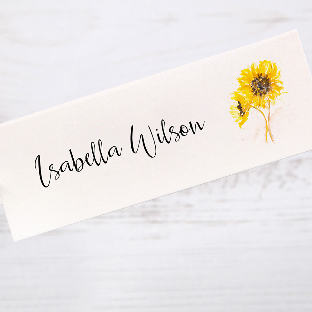 'Sunflower' Place Cards