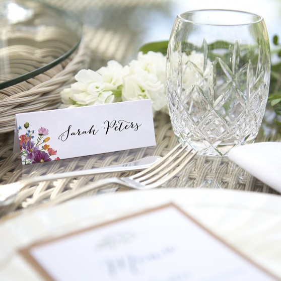 'Wild Floral' Place Cards