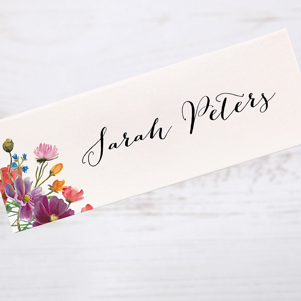 'Wild Floral' Place Card Sample