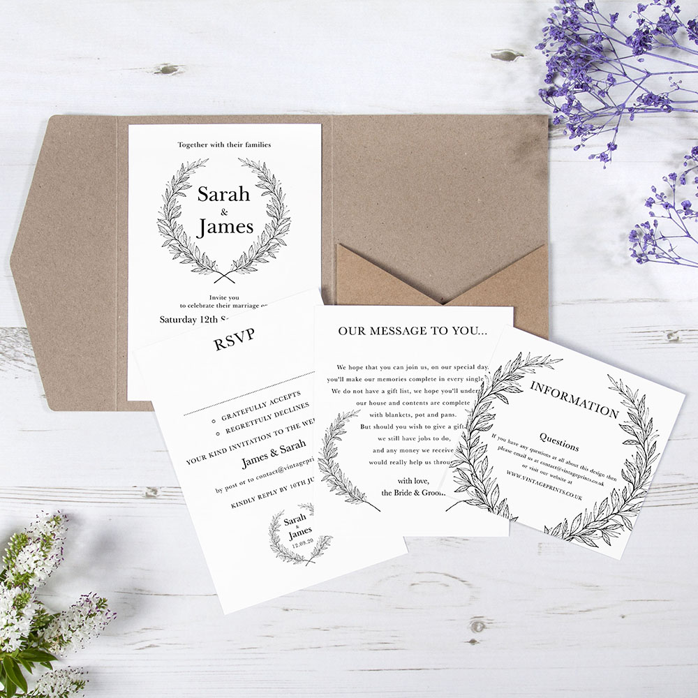 'Alice' Pocketfold Invitation Sample