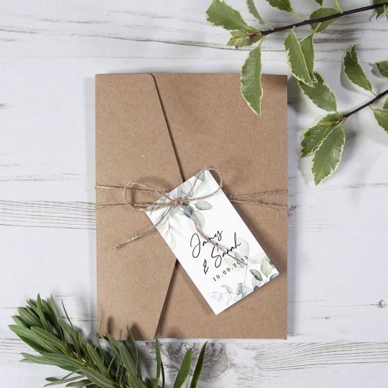 'Dreamy Eucalyptus' Pocketfold Wedding Invitation