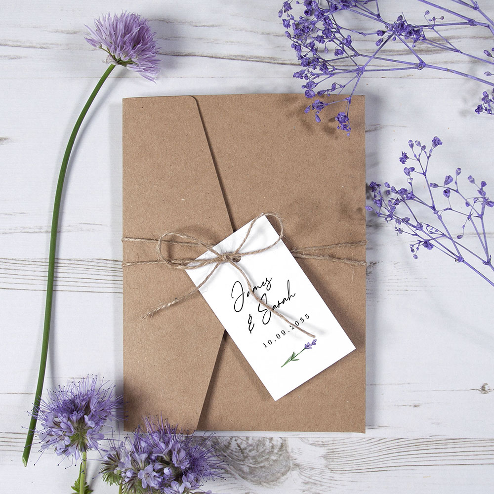 'Lavender' Pocketfold Invitation