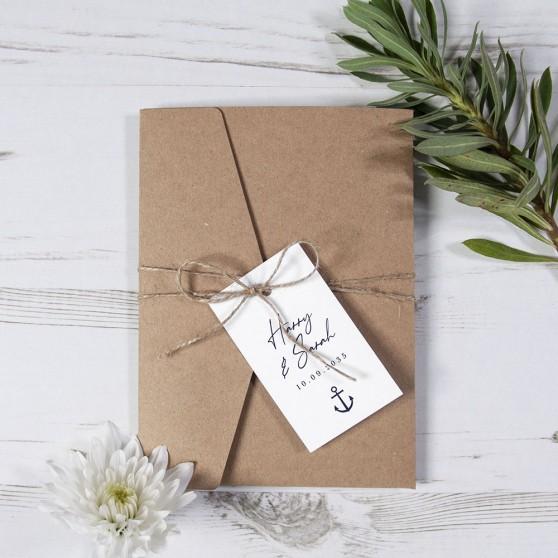 'Nautical' Pocketfold Wedding Invitation