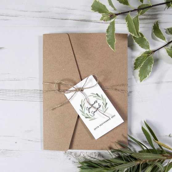 'Olive' Pocketfold Invitation