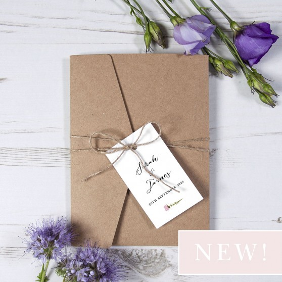 'Wild Floral' Pocketfold Wedding Invitation