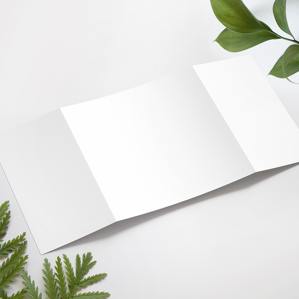 'Any Design' Printed Gatefold Wedding Invitation