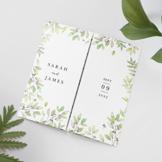 'Arabella' Printed Gatefold Wedding Invitation Sample