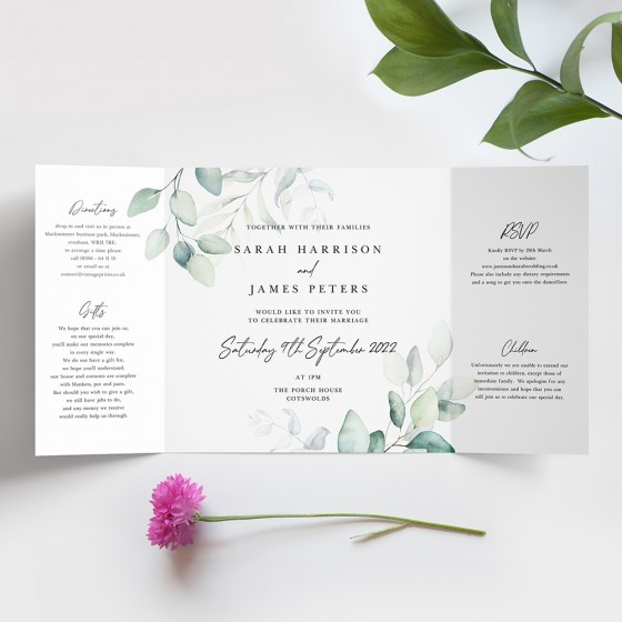 Printed Gatefold Invites
