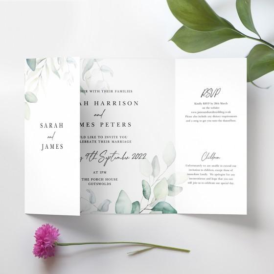 Printed Gatefold Invite Samples