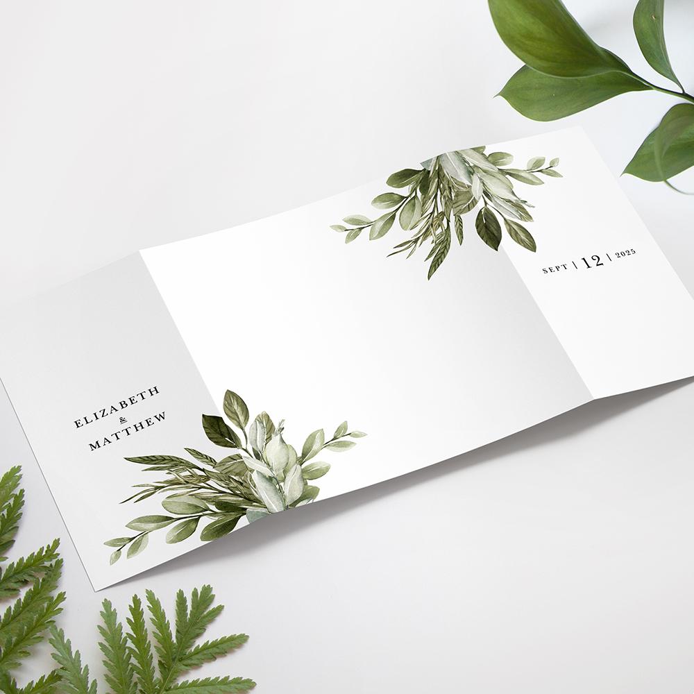 'Tuscany' Printed Gatefold Wedding Invitation
