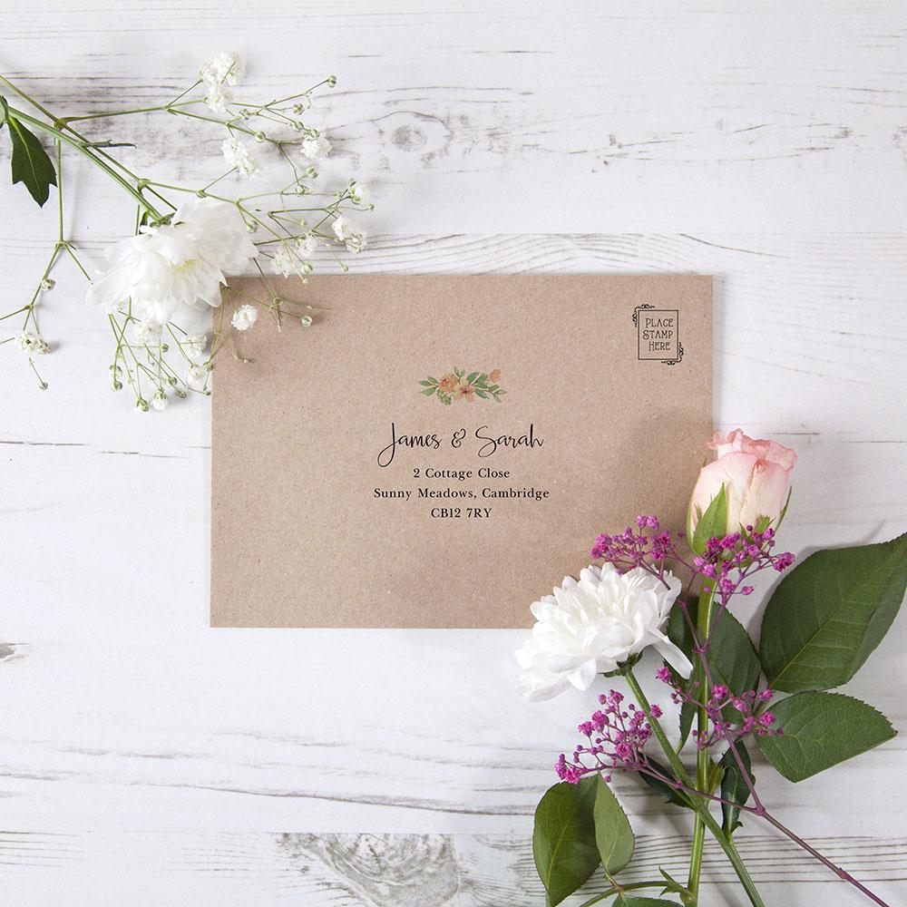 'Bella' Printed Envelope Liner with Envelope