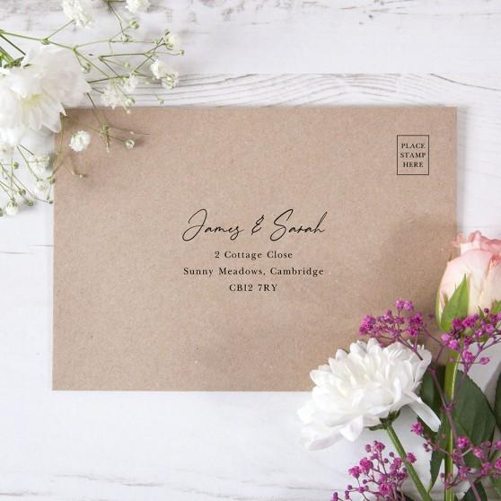 'Classic Eucalyptus' RSVP Envelopes