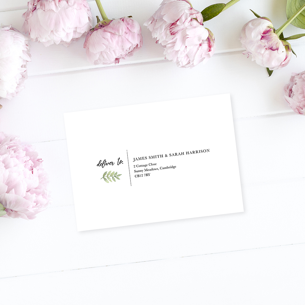 'Oh So Green' RSVP Envelopes