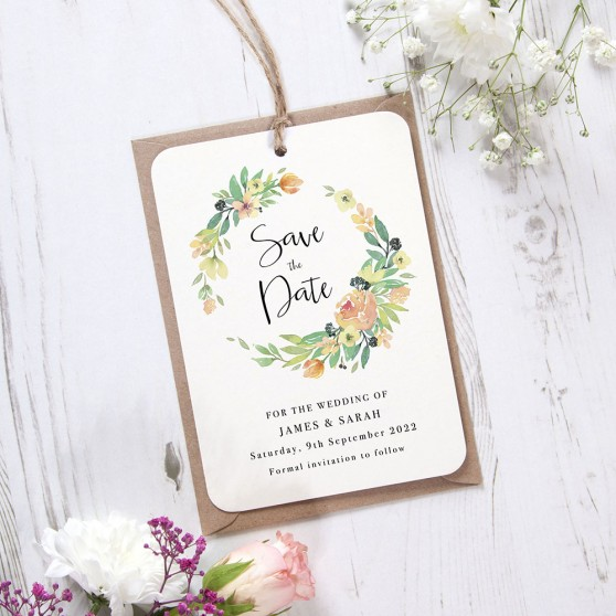 'Bella' Hole-punched Save the Date
