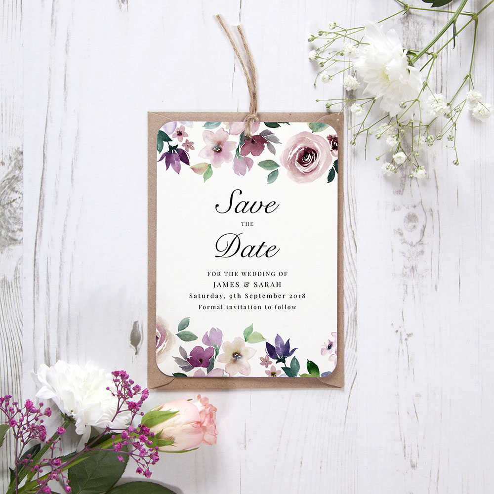 'Camilla' Hole-punched Save the Date Sample