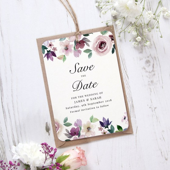 'Camilla' Hole-punched Save the Date