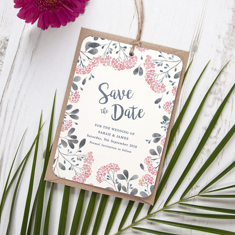 'Multi Felicity' Hole-punched Save the Date