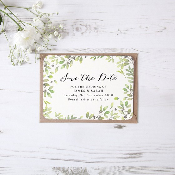 Flat Save the Date Samples