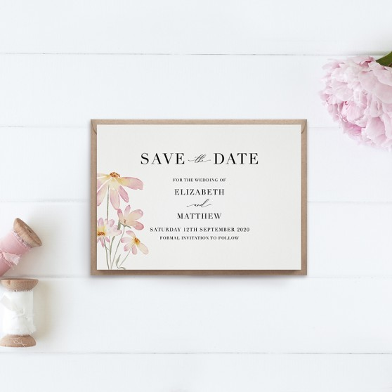 'Daisy Pink' Save the Date