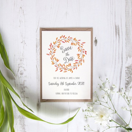 'Autumn Orange' Save the Date