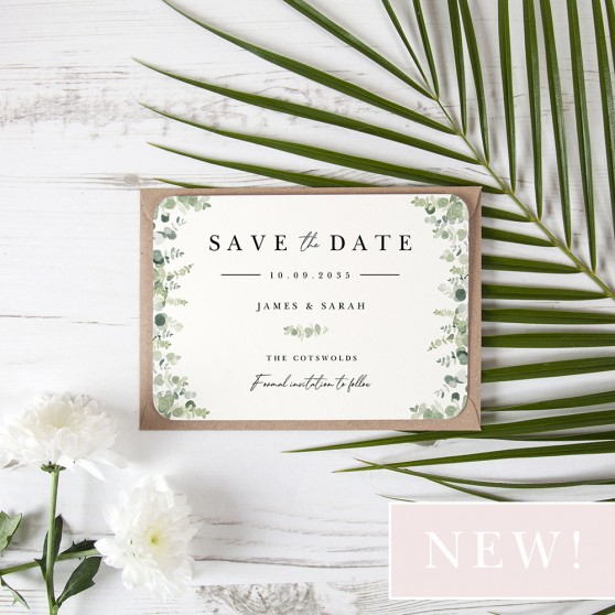 'Classic Eucalyptus CE10' Save the Date