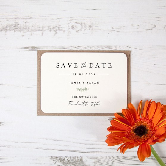 'Classic Eucalyptus CE11' Save the Date